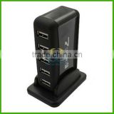 Powered + Free AC Adapter 7 Port USB 2.0 High Speed HUB
