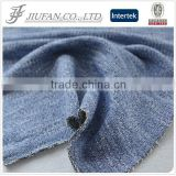Jiufan Textile 2015 New Fashion Knit Yarn Dyed French Terry Polyester Cotton Blended With Lurex Fabric For Garment