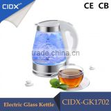 1.7L New Blue LED Cordless Feature Electric Glass Kettle