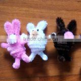 kid's educational terylene chenille stems for diy animals