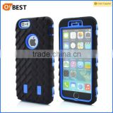 "2014 TPU+PC Tire pattern heavy duty armor case for iPhone 6 plus 5.5inch"",PC + TPU 3 in 1"