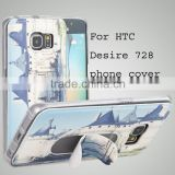 PU leather phone cover stent cover case back cover for htc desire 820