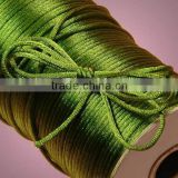 Satin cord Jewelry making supplies-bright green color china knot satin cord for jewelry DIY making and craft supplies