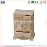 2015 new design small wooden drawer storage box with miniature wooden door for home decor