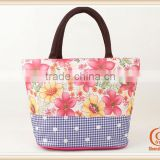 Fashion Ladies blank standard size cotton tote bag Floral Tote Bag Lovely Lady Bags                                                                         Quality Choice