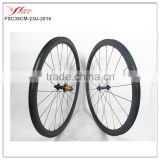 Strong and Stiff 38mm deep 23mm wide U shape bicycle carbon clincher wheelset with Edhub UD Matte aero dynamic