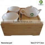 Luxury bamboo tea pot set