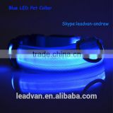 Blue Light Pet Decoration Waterproof LED Dog Collars and Leashes