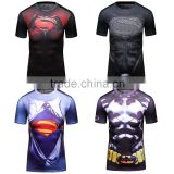 2016 guangzhou casual wear camisetas marvel men superhero compression shirts 3d t shirt sportswear for maler