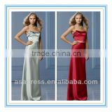 2014 Strapless Neckline with Origami Folded Detail Self Belt at Waist Made to Order Bridesmaid Dresses China (BDWA-4011)