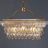 High quality bar club modern dinning g4 g9 led pendant lamp crystal rattan hanging pendant chandelier ceiling lamp