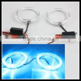new guiding light technology 80mm blue color led angel eyes car headlight drl led halo rings
