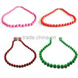 Design chain necklace,silicone beads for teething necklace,good quality fashion bead necklace designs