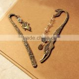2016 IN STOCK wholesale retro beaded bow butterfly knot mermaid carved personalized retro metal bookmarks                                                                         Quality Choice