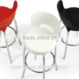 high bar chairs design in modern style and fashionable dining chair with durable plastic