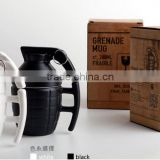 creative fancy bardian military soldier theme granade and bomb model ceramic gift mug for advertisement and celabration