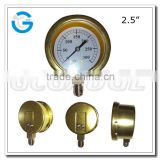 High quality bottom connection bayonet bezel brass steam pressure gauge