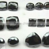 High Quality 5mm to 20 mm Fancy Cut Moissanite Black In pear, oval, cushion and Princess Marquise Cut