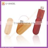 Promotion gift wooden swivel USB pen dirves , free logo printing USB sticks , 8G USB flash drive