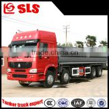 Suizhou High performance HOWO 8*4 aluminum alloy flammable liquid/oil/fuel tanker truck 30cbm capacity