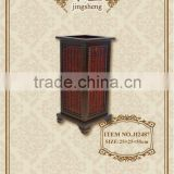 2012 wood and rattan decorative umbrella stand holder
