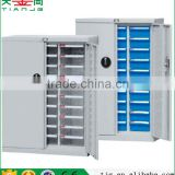 China TJG-CAH-330D-1 ABS Plastic 30 Blue Drawers Metal Spare Parts With Doors Cabinet