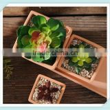square terracotta flower pot with square design for plants