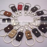 men cheap leather portable car key holder multiple id card holder key chain