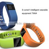 top sale TW64 bluetooth smart Fitness bracelet watch with receiving calls smart bracelet water proof smart bracelet blooth 4.0