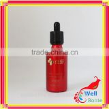 Essential oil glass bottle with color painted wholesale glass bottle for small glass bottles with lids