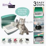 Kitty litty the world's first Lift-Sift-Flip cat litter plastic box ,makes Happy Cats, Happy family!