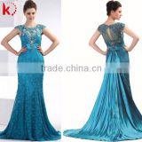 Sexy Backless Blue Sleeveless long lace maxi prom women dress fashion 2014