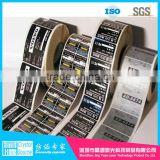 OEM roll Vinyl sticker printing Genuine custom logo hologram laser labels