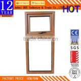 CE certificate aluminum awing window With double gazed cheap aluminum hung window for house