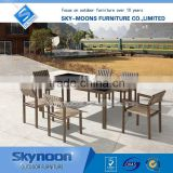 garden furniture outdoor, webbing dining set, dark brown big lots outdoor furniture(TM-01002)