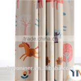 Horse printed shade fabric for window curtain, 100% sun shade for upholstery fabric, ready made curtain china textile factory