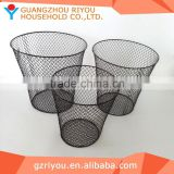 Home usage floor stand metal household bulk metal wire wire waste basket