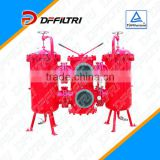 Heavy Machinery SDRLF-A-1300 Large Flow Duplex Filter/Hydraulic Oil Return Line Filter with By-pass Valve and Clogging Indicator