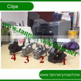 sheep leather plastic spring clip for toggling machine