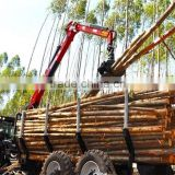 tractor use forest hydraulic log trailer wood wagon timber loading trailer log wagon with crane grapple