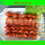 automatic meat barbecue grill skewer with machine