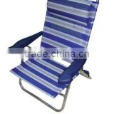 Blue Aluminium Beach Chair with Arm/Folding chair L92003