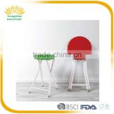 Good sale light weight stackable outdoor white designer round plastic chair
