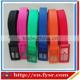 Colorful in shape silicone waist belt for Teenagers
