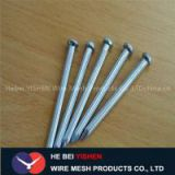 Hardened steel concrete nail