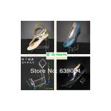 Free shipping support wholesale acrylic shoes display case shoes display stand! Special display rack for shoes