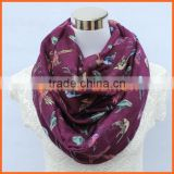 2014 New animal print scarf Swallow birds loop infinity scarf For Her Women Fashion Accessories