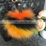 Factory Wholesale Accessories Rabbit Pompom High Quality Large Faux Pom Fluffy Fox Fur Ball For Keychain Bag Charm