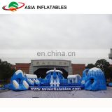 Commercial Inflatable Land Water Park / Kids & Adults Inflatable Water Sports / Outdoor Inflatable Amusement Park Project