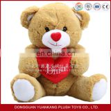 Custom Wholesale Plush Teddy Bear Toys with Heart